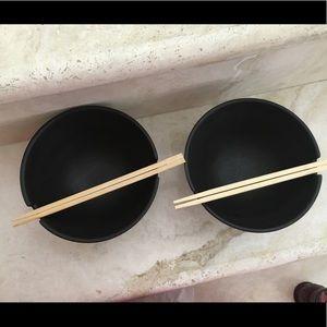 VINTAGE BLK MATTE OGGI RICE /Noodle BOWLS
